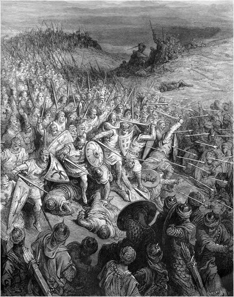 4. El choque de los dos ejércitos. De la obra Las Cruzadas. Gustavo Doré (1832-1883)