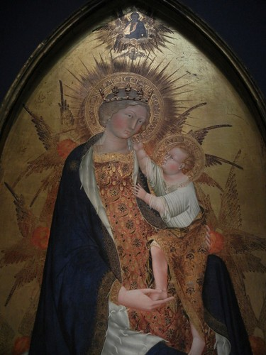 DSCN7713 _ Branchini Madonna (detail), 1427, Giovanni di Paolo (1403-1482), Norton Simon Museum, July 2013