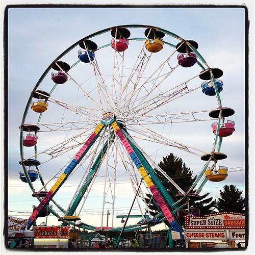 pastel Ferris wheel #midway #fryeburgfair