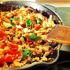 Good Morning! #sunny #food #breakfast #tomato #eggs #thaibasil #onions #shaytober #shayloss