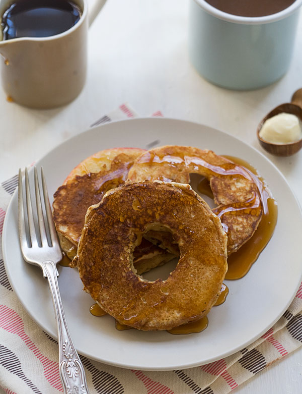 Spiced Apple Ring Pancakes