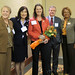 Maria-Smith-Brackenridge-Center- receives-our -Mentor- of Year Award-Executive-Director -of-Alliance-for-Higher-Education-DBA-North-Texas-RCIC-Penelope- Salmons-of-Fibrtec-and-Mike-Bartlett-of-Vital-Art-and-Science-supporters
