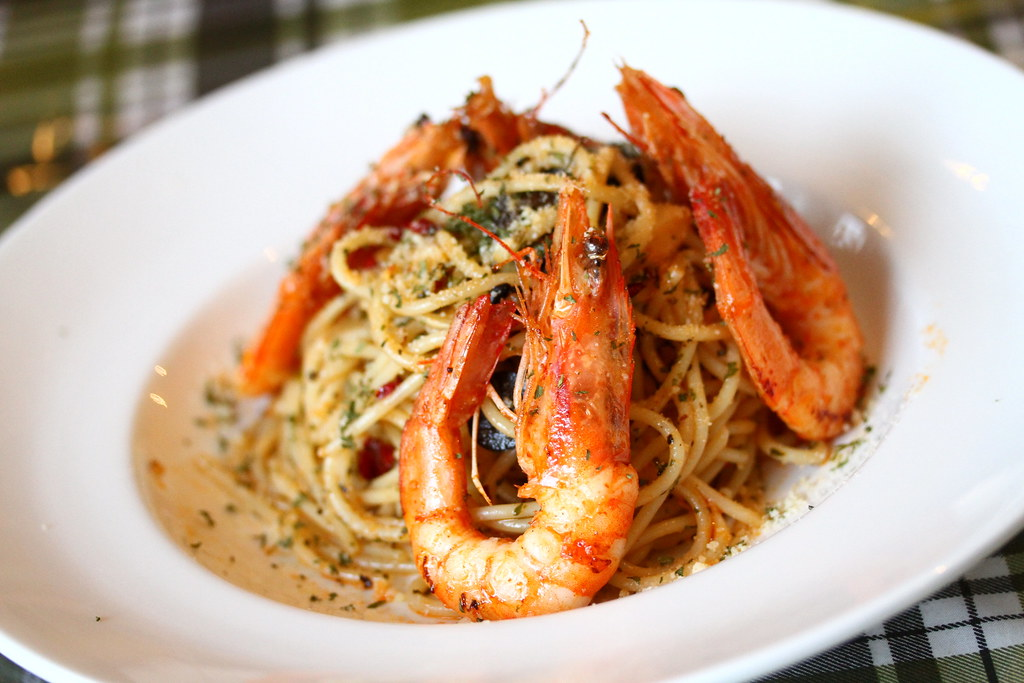 George Town Cafes: Kwong Sang House's Prawn Aglio Olio