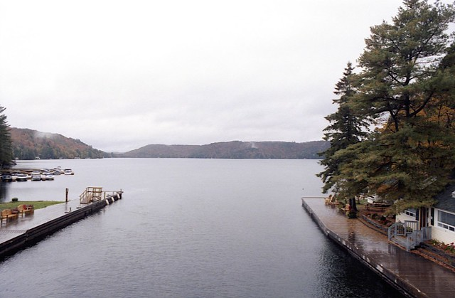 Looking Out onto the Lake of Bays