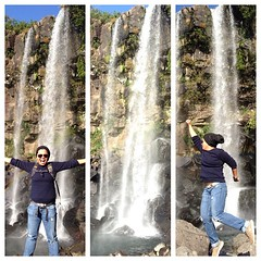 Jeongbang Waterfall. It was a rocky path to reach the fall but it was well worth it. #jeongbang #waterfall #misadventures #troublemaker #mjwasia