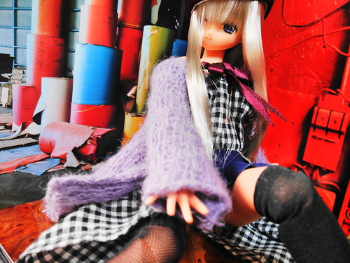 Model photography 'knit'