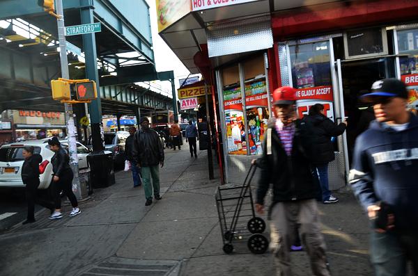 Calle del barrio del Bronx