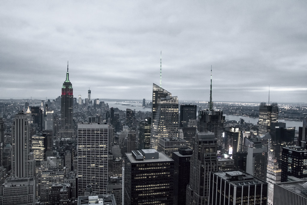 "Vintage Look of New York from the ""Top of the Rock"""