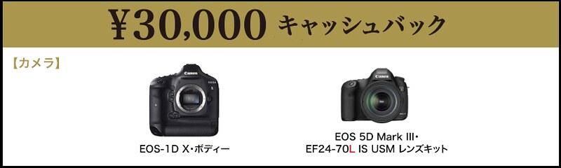 30000円キャッシュバック