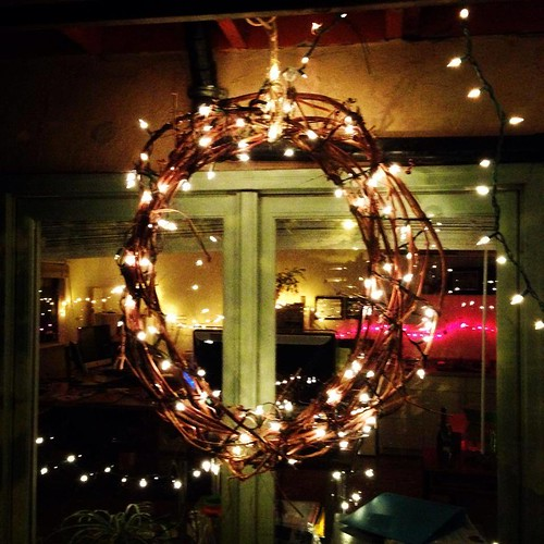 wreath in lights