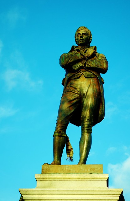 Burns Statue, Ayr, Scotland