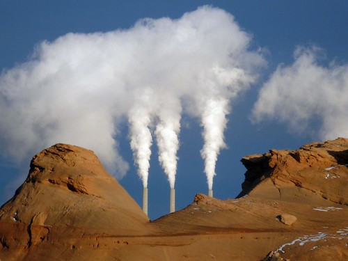 Page power plant plumes