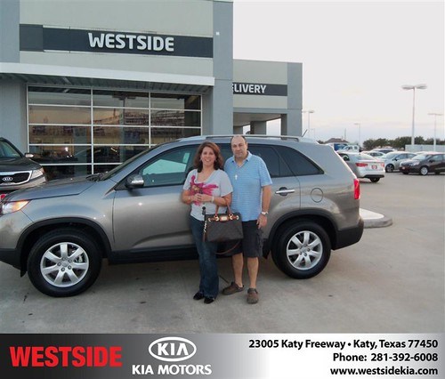 Happy Anniversary to Nohra Urrego on your 2013 #Kia #Sorento from Jerry Moore  and everyone at Westside Kia! #Anniversary by Westside KIA