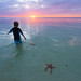 Sunset at Star Fish Point, Grand Cayman. by Buck Forester