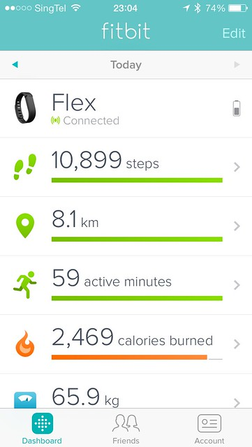 Fitbit iOS App - Dashboard