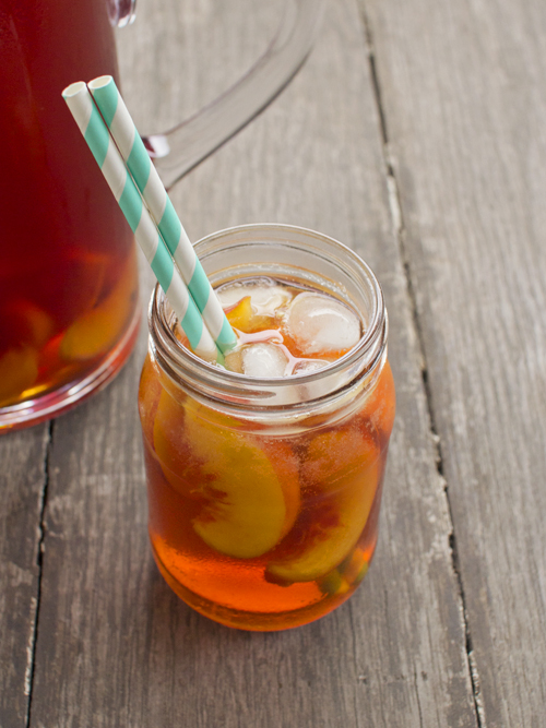 drunken peach iced tea