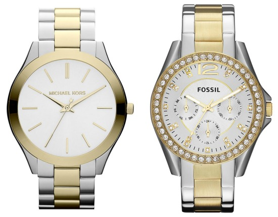 Hi Sugarplum | Michael Kors vs Fossil watches