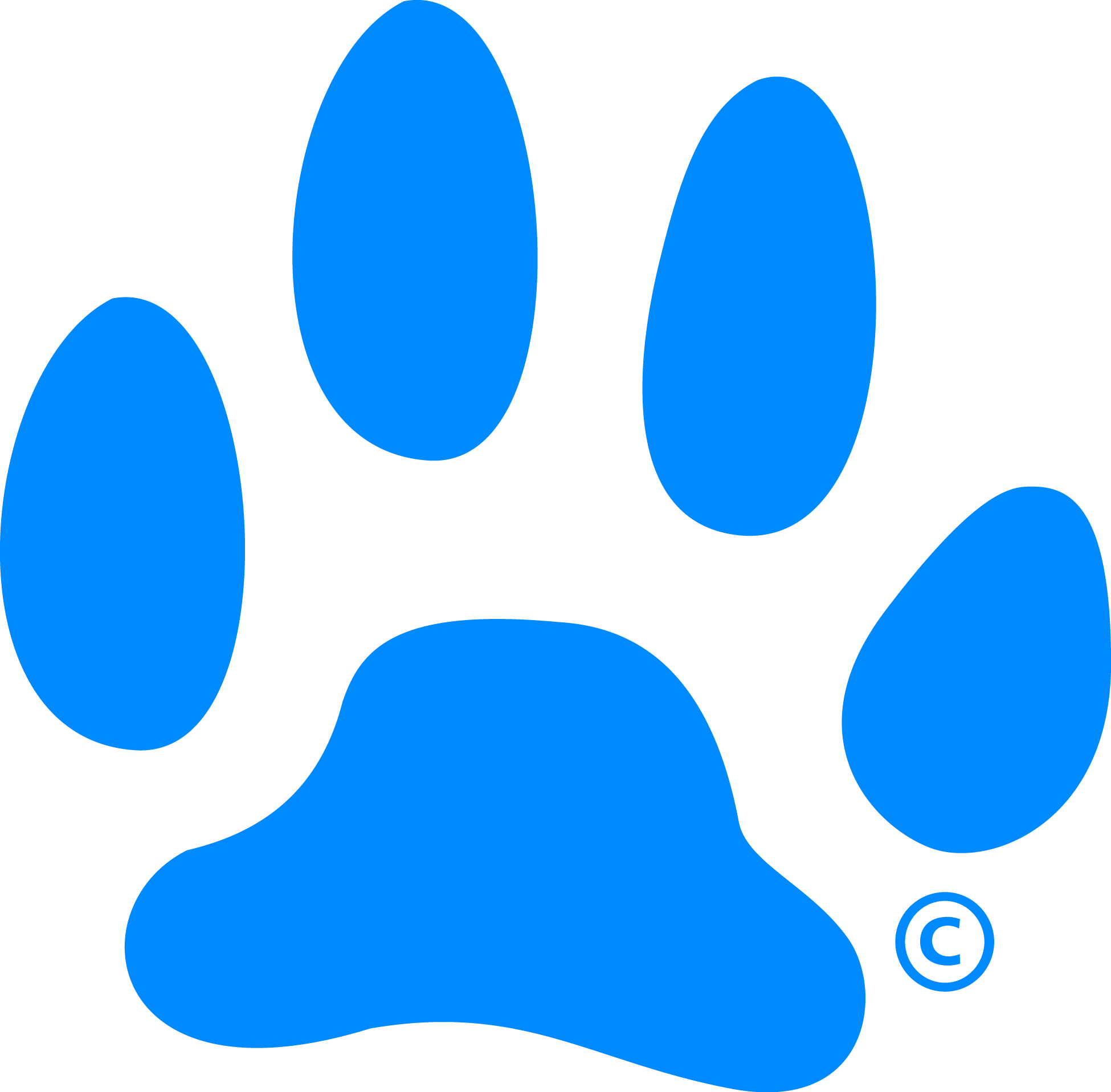 the gallery for gt blue paw print logo starts with b