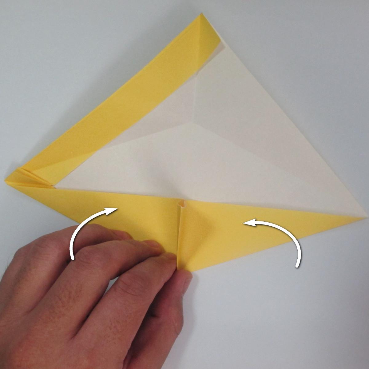 สอนวิธีพับกระดาษเป็นรูปลูกสุนัขยืนสองขา แบบของพอล ฟราสโก้ (Down Boy Dog Origami) 035