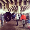 Underpass and Mardi Gras Indians. #mardigras