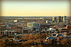 View of the city of Birmingham, AL