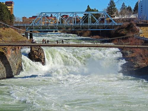 bridges waterfalls rivers washingtonstate spokaneriver nikonflickraward spokanewashingtonstate