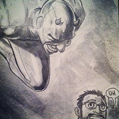 A close up of my #selfie from the #sketchcover if did of #daredevil #marvel #sketch