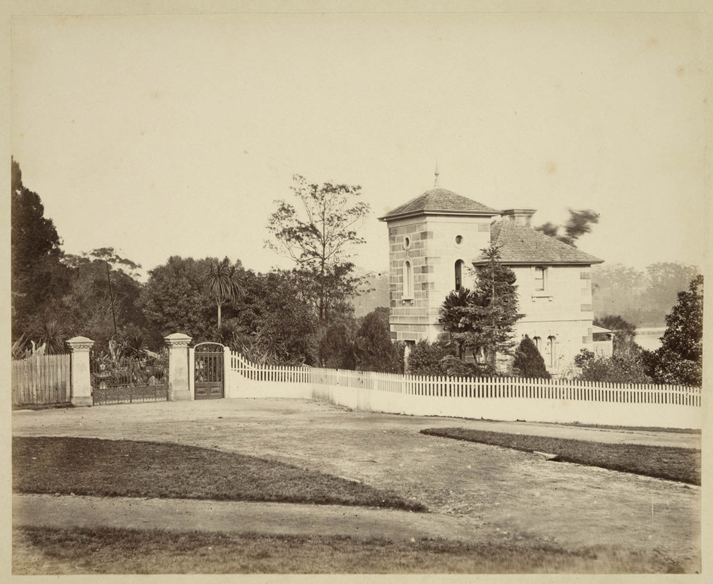 Gatehouse at Botanical Gardens, c. 1879, by Tronier Artist Photographer