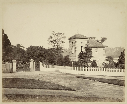 Gatehouse at Botanical Gardens, c. 1879, by Tronier Artist Photographer