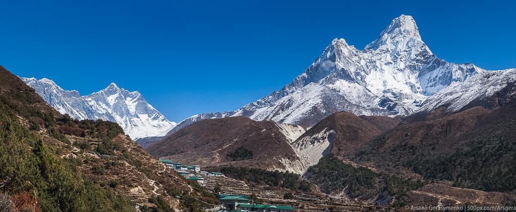 The Himalayas: Everest, Lhotse, Ama Dablam