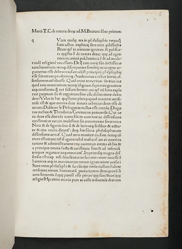 Title incipit in  Cicero, Marcus Tullius: De natura deorum