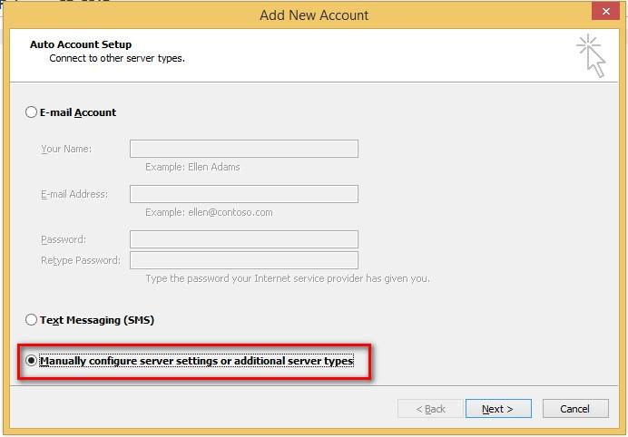 Hướng dẫn cấu hình Outlook 2003-2007 để gửi và nhận email