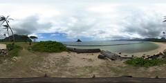 The Kualoa Regional Park in the Ko'olaupoko area of Oahu, Hawai'i - a 360° equirectangular VR