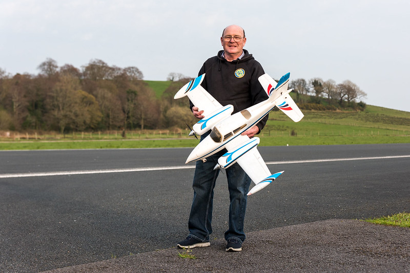 Rodney with his new twin engine.