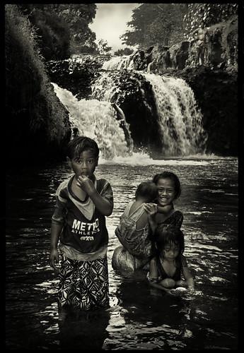 ngc blackandwhite travel samoa film nikonf3 wanderlust polynesia islandlife water waterfalls smiles stream valley family youth