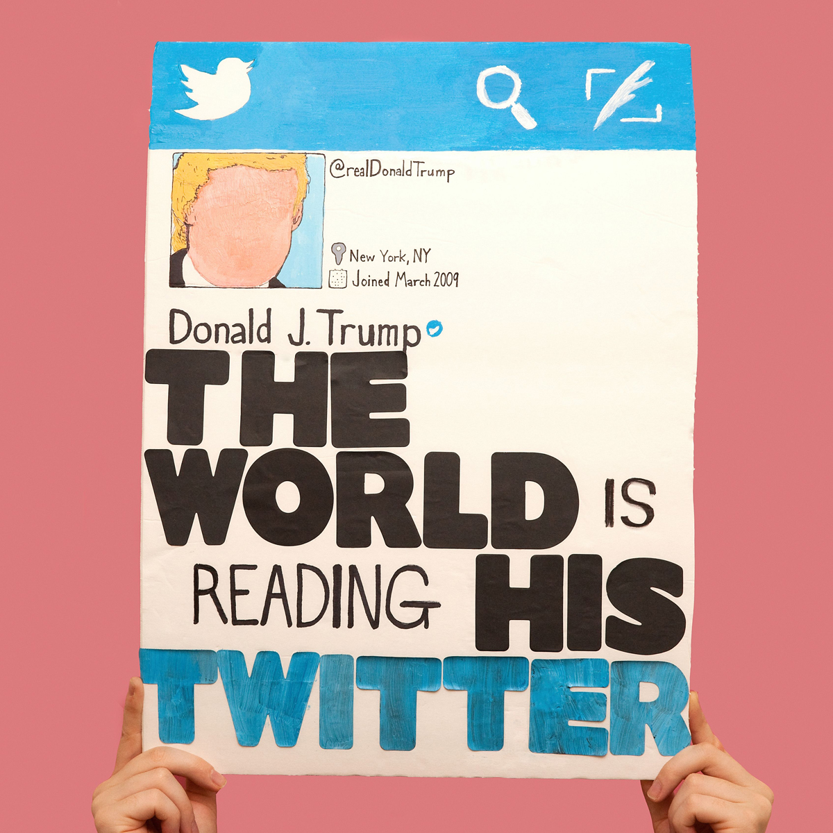 45 Protest Signs_Brandon and Olivia Locher_20_The Whole World is Watching His Twitter