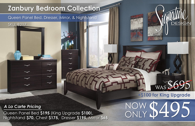 Zanbury Bedroom Set B217_A La Carte