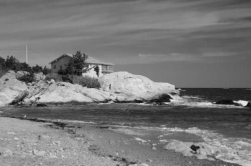 bw beach monochrome blackandwhite minot scituate house polarizer