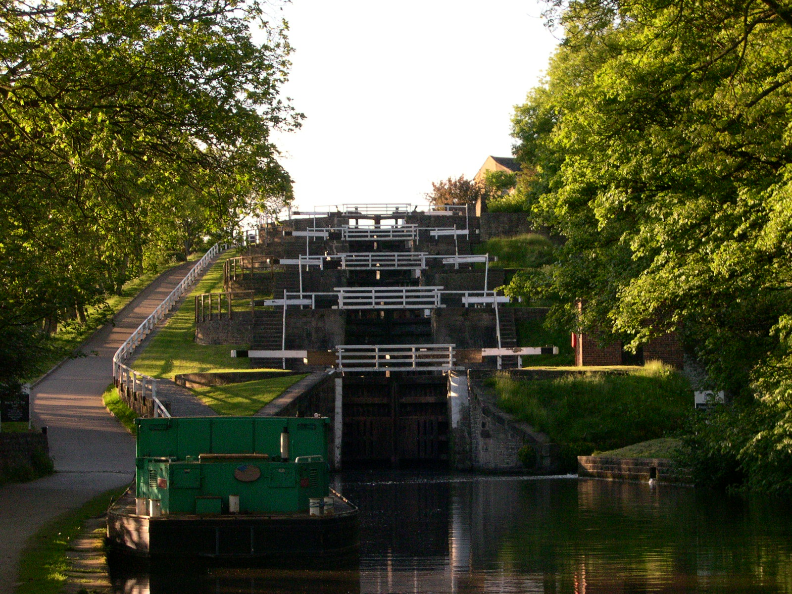 Bingley Five Rise Locks. Credit Michael Spiller