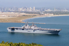 USS Essex (LHD 2) transits San Diego Bay, May 3. (U.S. Navy)