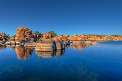 sunset arizona sky usa lake reflection nature water landscape rocks day waves clear geology prescott watsonlake