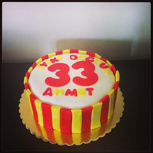 #birthdaycake #gs#sugarart #sugarpaste #sekerhamurlupastalar by l'atelier de ronitte