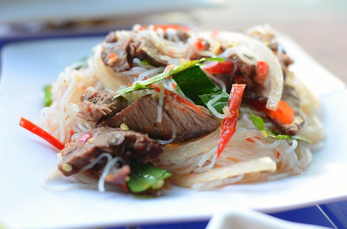 spicy beef/noodle salad