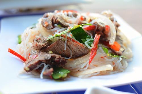 spicy beef/noodle salad