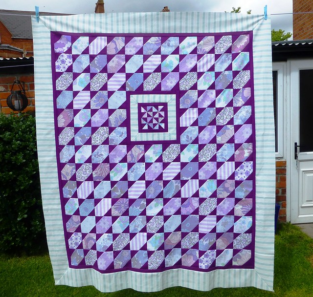 Brit Bee '13 Vintage Purple Quilt top