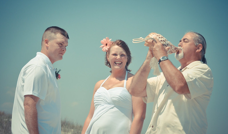 David Sears Of Beach People Weddings Was The Officiant Here Are A Few My Favorite Photos From Their Sunset NC Wedding