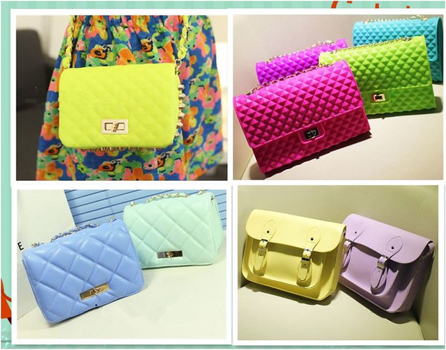 pastel coloured bags