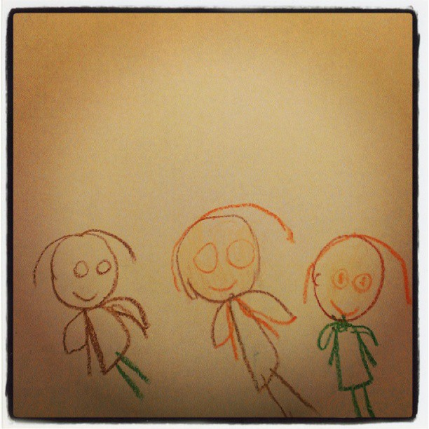 Three sisters by the three year old! :-)