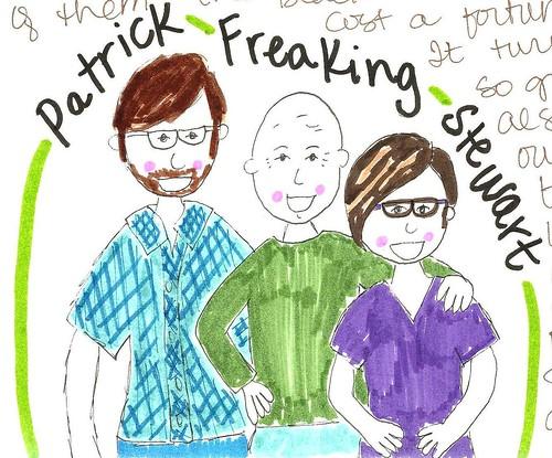 Mike, Sir Patrick Stewart, & me!