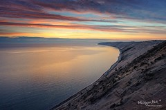 Grand Sable Dunes Sunrise ~ Pictured Rocks National Lakeshore by Michigan Nut